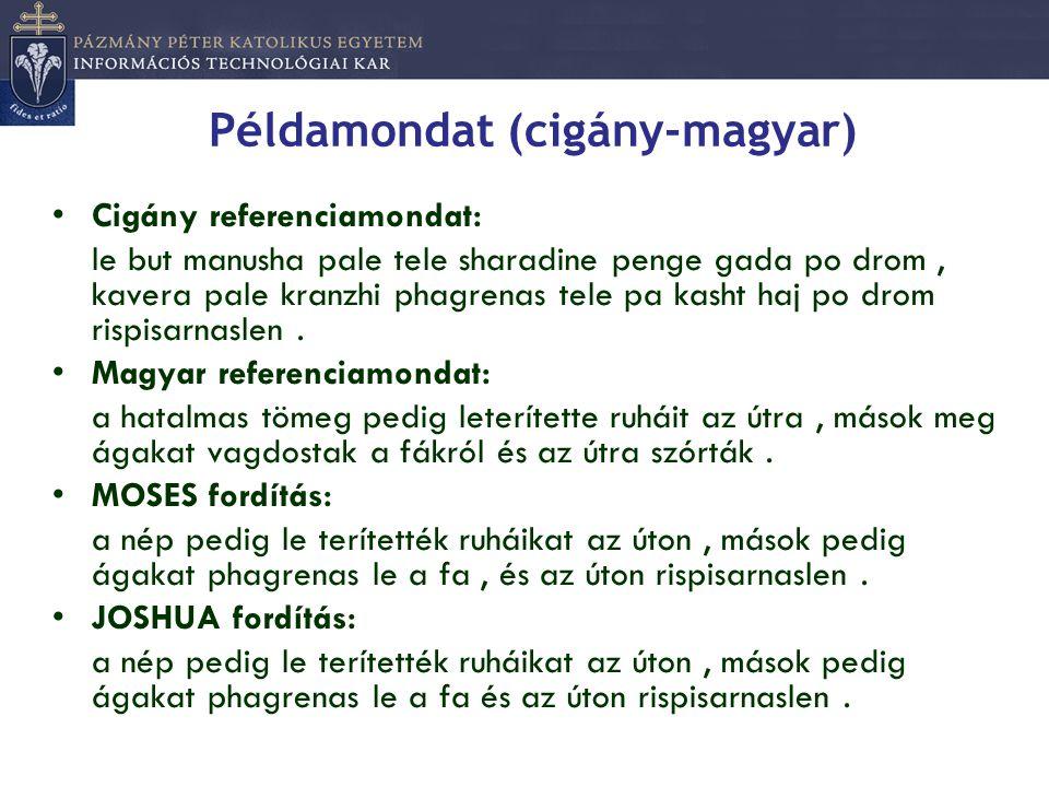 Példamondat (cigány-magyar)