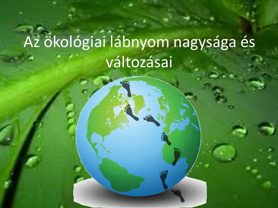 Az ökológiai lábnyom nagysága és változásai