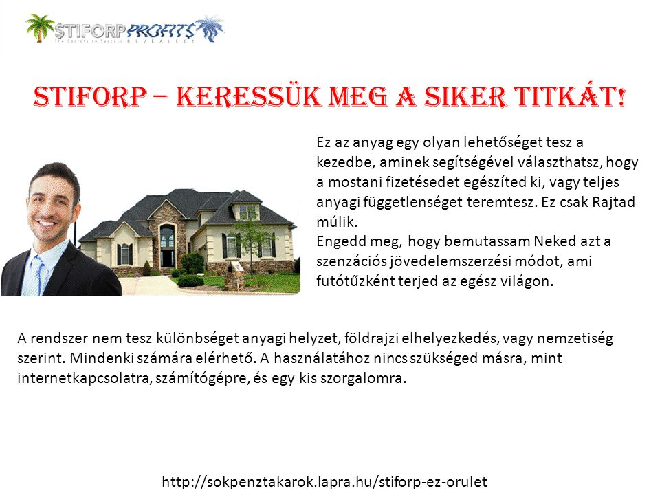 StiforP – Keressük meg a siker titkát!