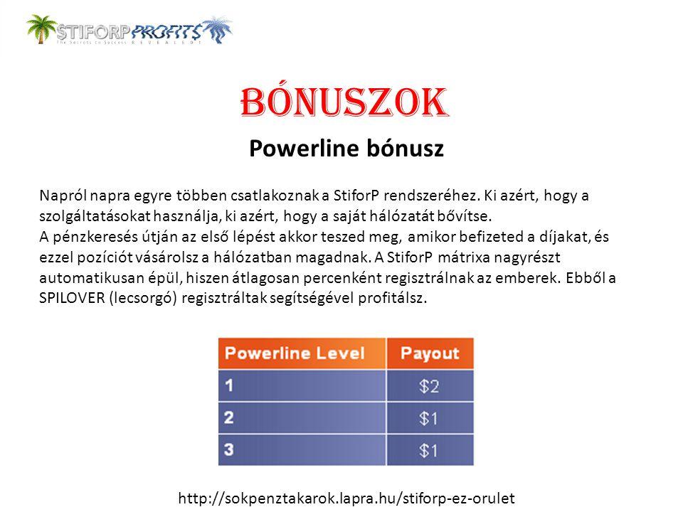 BÓNUSZOK Powerline bónusz