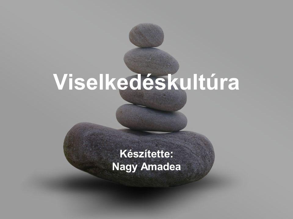 Viselkedéskultúra Készítette: Nagy Amadea