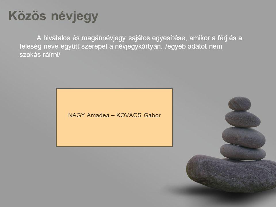 NAGY Amadea – KOVÁCS Gábor