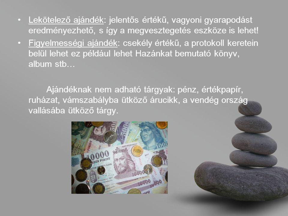 Lekötelező ajándék: jelentős értékű, vagyoni gyarapodást eredményezhető, s így a megvesztegetés eszköze is lehet!
