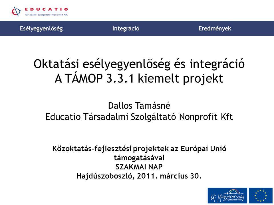 Közoktatás-fejlesztési projektek az Európai Unió