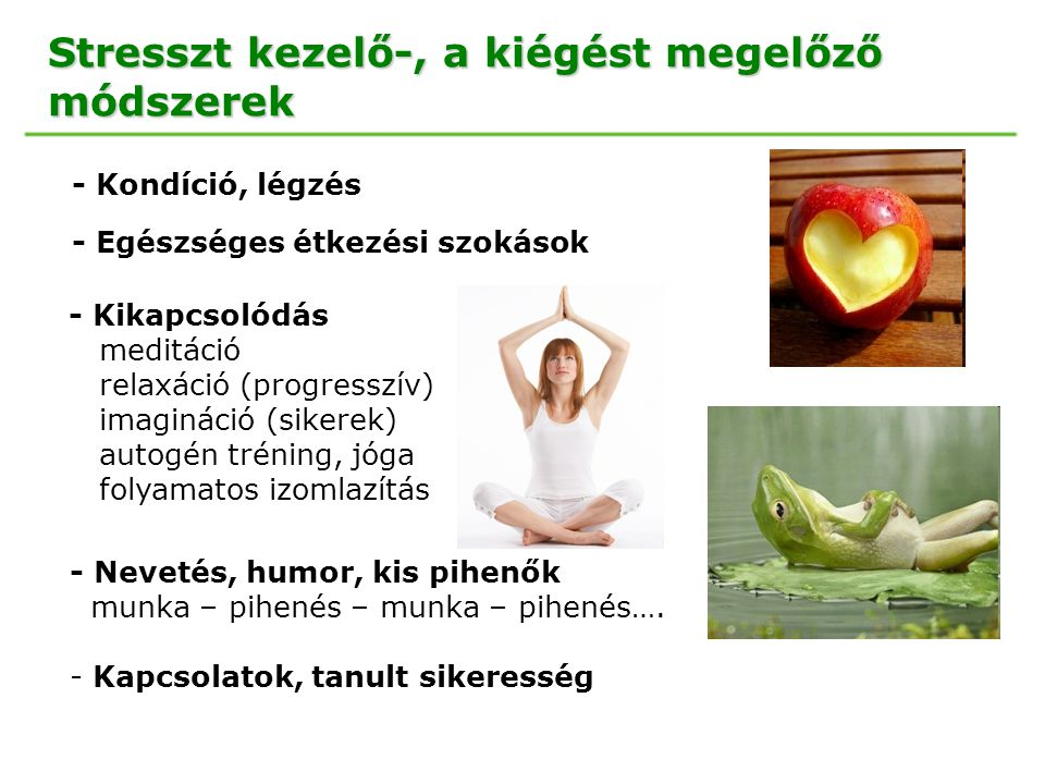 Stresszt kezelő-, a kiégést megelőző módszerek