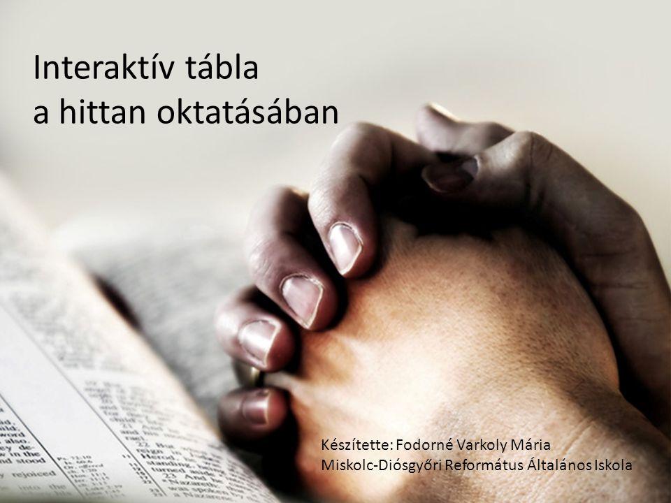 Interaktív tábla a hittan oktatásában