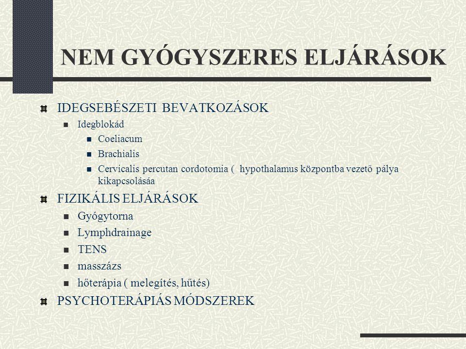 NEM GYÓGYSZERES ELJÁRÁSOK