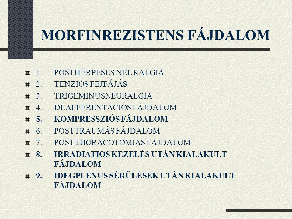 MORFINREZISTENS FÁJDALOM