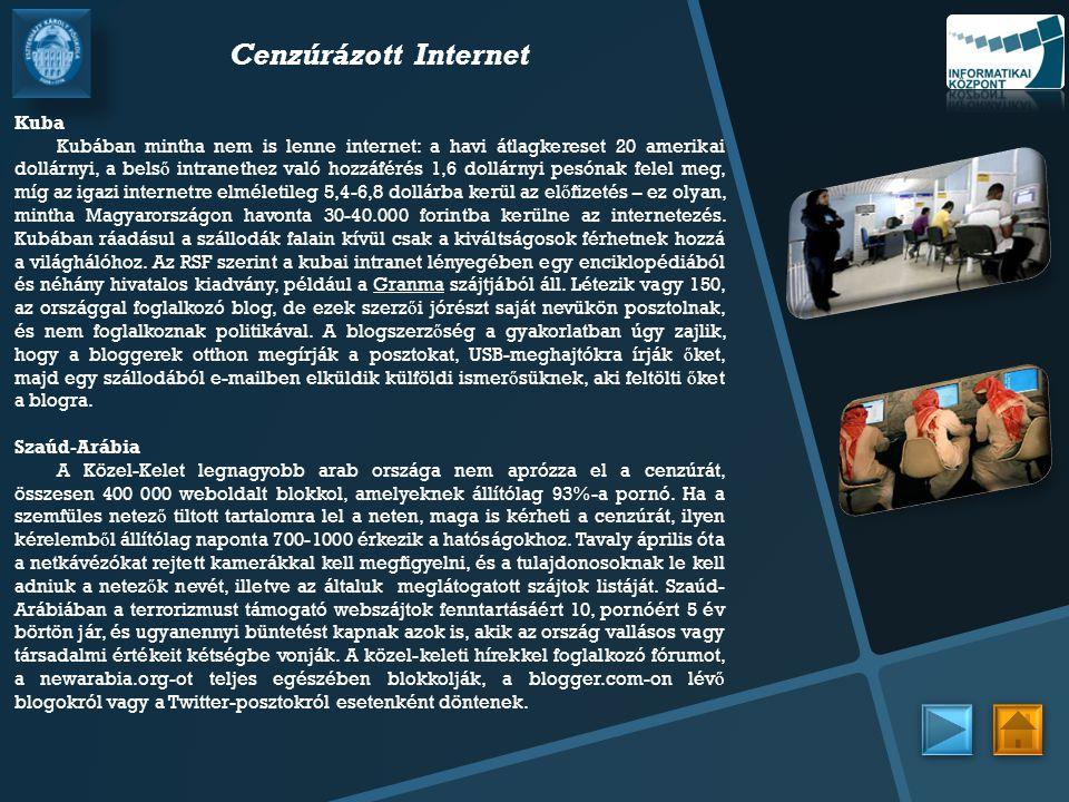 Cenzúrázott Internet Kuba