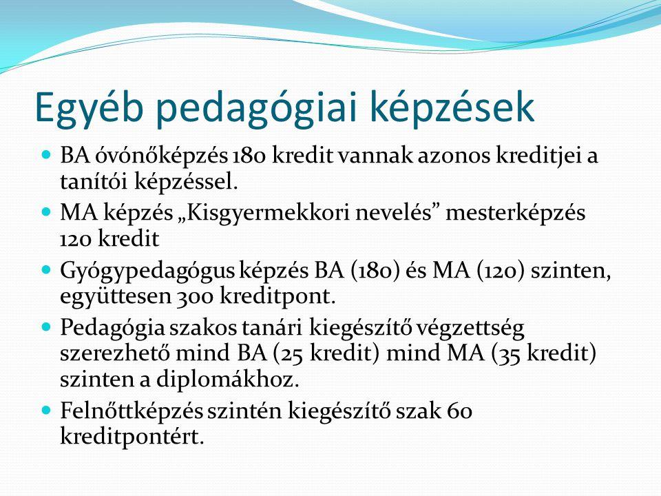 Egyéb pedagógiai képzések