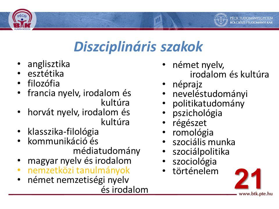 Diszciplináris szakok