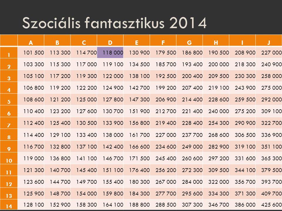Szociális fantasztikus 2014
