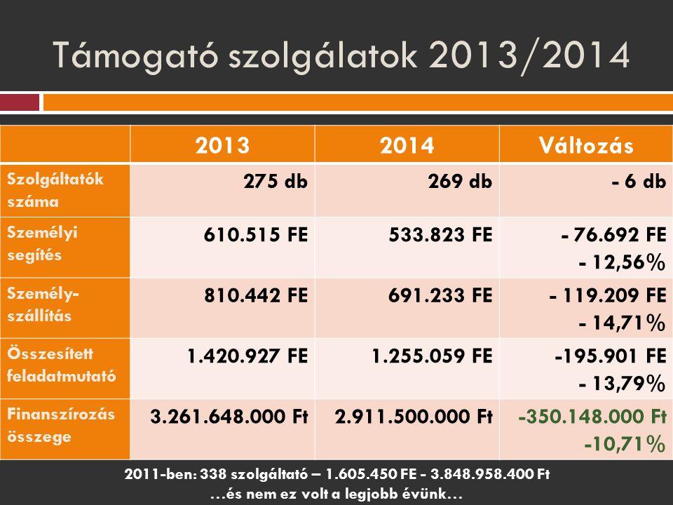 Támogató szolgálatok 2013/2014