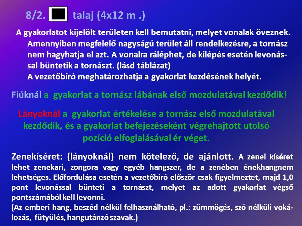 8/2. talaj (4x12 m .)