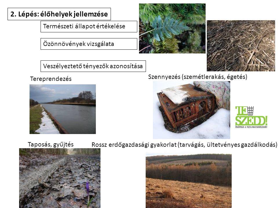 2. Lépés: élőhelyek jellemzése