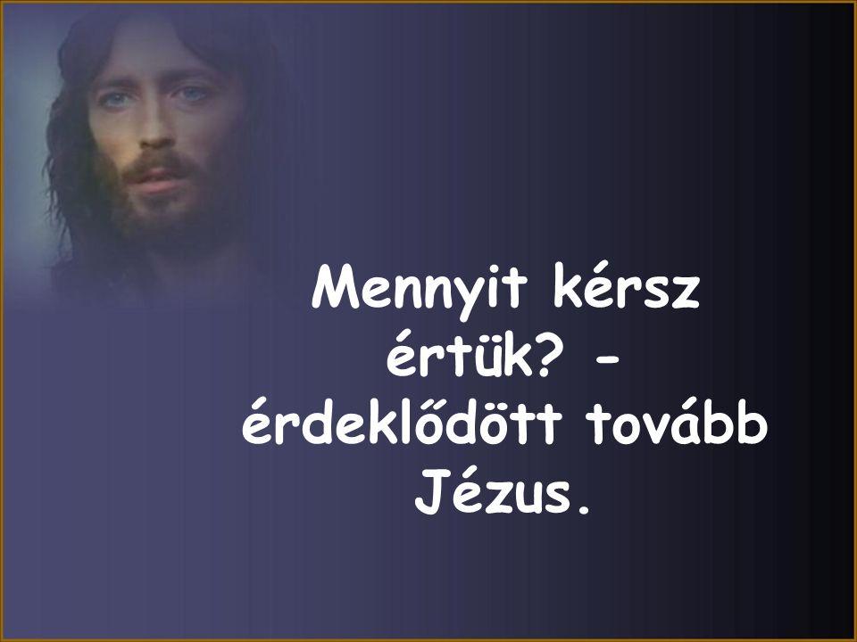 Mennyit kérsz értük - érdeklődött tovább Jézus.
