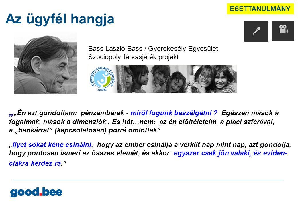 ESETTANULMÁNY Az ügyfél hangja. Bass László Bass / Gyerekesély Egyesület Szociopoly társasjáték projekt.