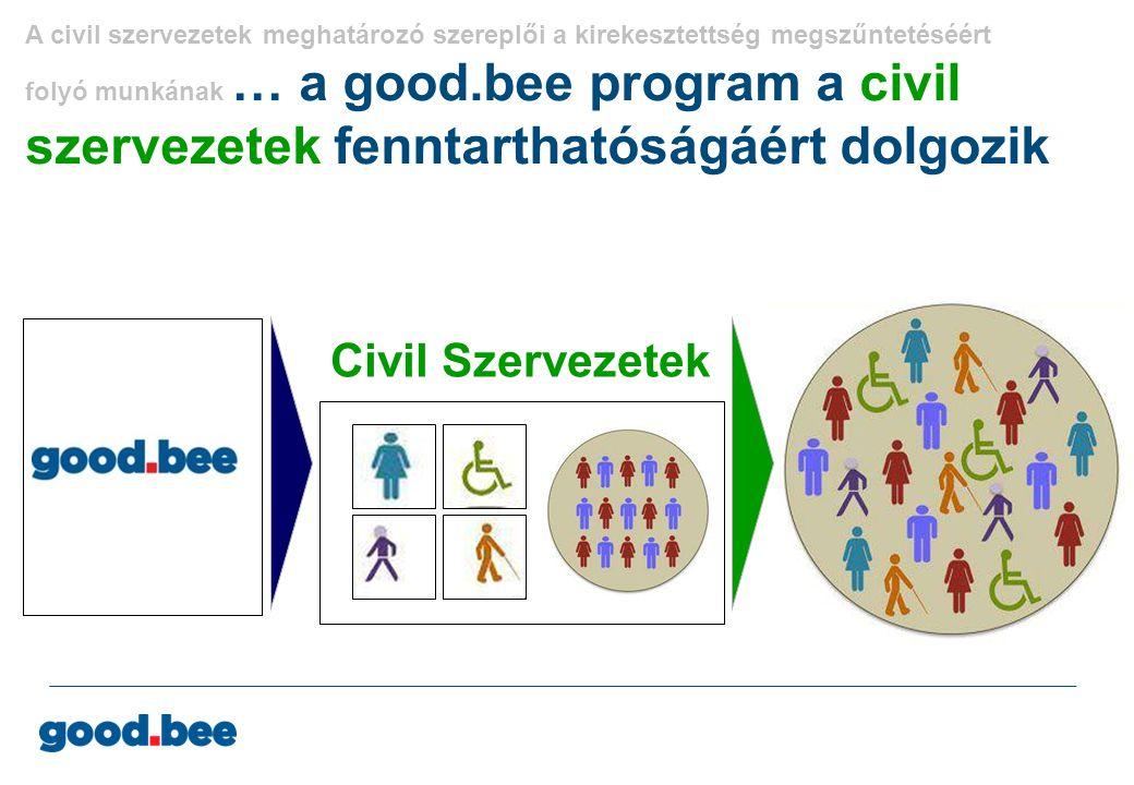 A civil szervezetek meghatározó szereplői a kirekesztettség megszűntetéséért folyó munkának … a good.bee program a civil szervezetek fenntarthatóságáért dolgozik