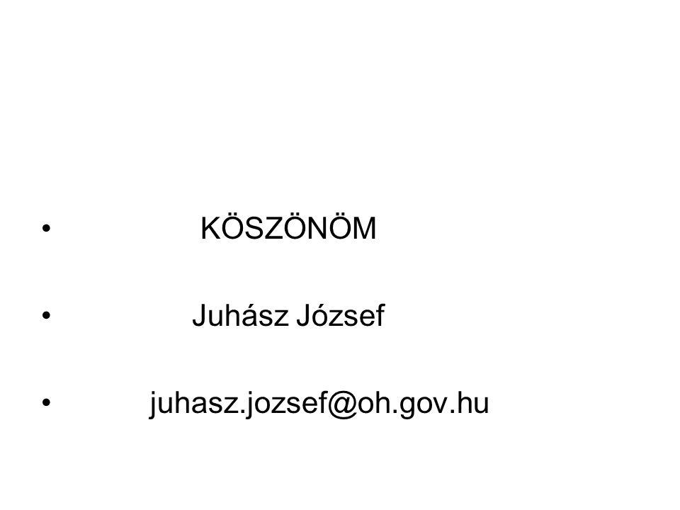 KÖSZÖNÖM Juhász József juhasz.jozsef@oh.gov.hu