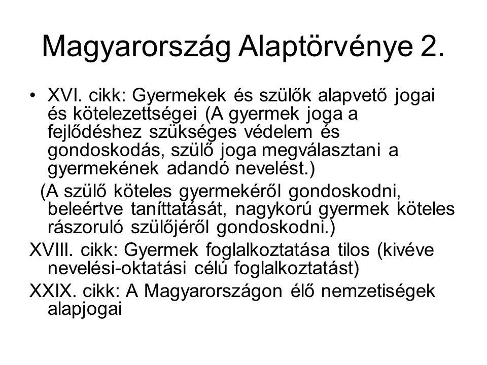 Magyarország Alaptörvénye 2.