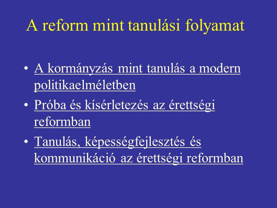 A reform mint tanulási folyamat