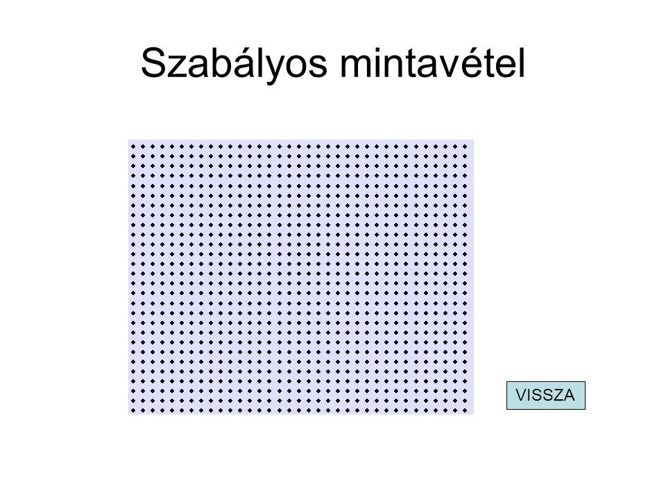 Szabályos mintavétel VISSZA