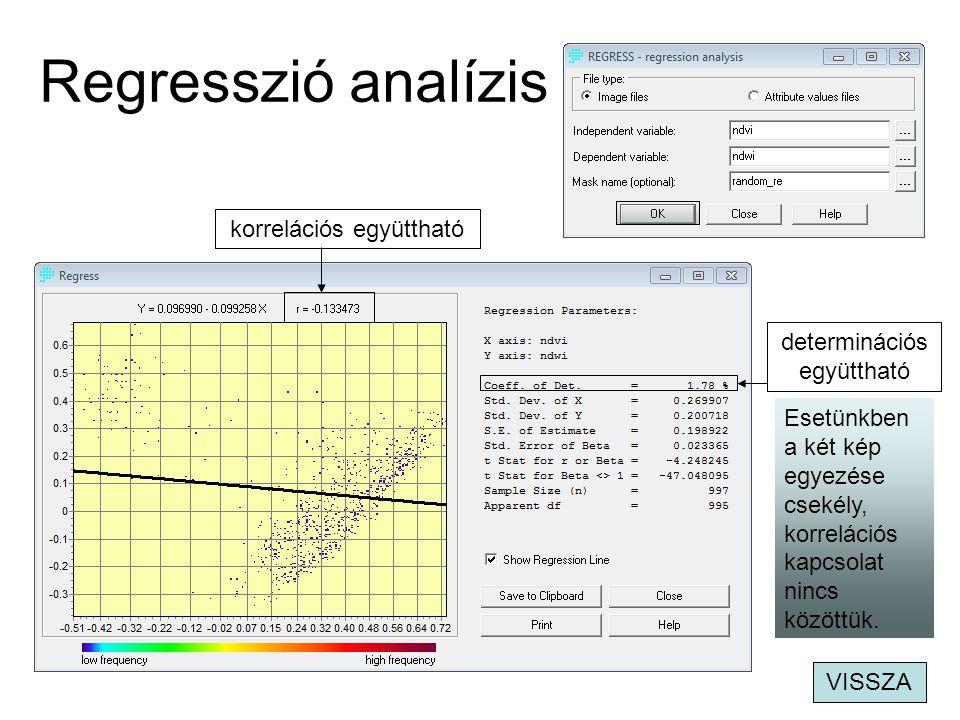 Regresszió analízis korrelációs együttható determinációs együttható