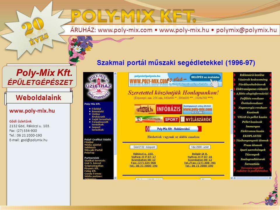 Szakmai portál műszaki segédletekkel (1996-97)