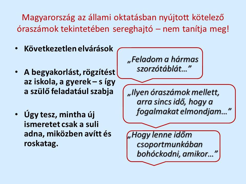Magyarország az állami oktatásban nyújtott kötelező óraszámok tekintetében sereghajtó – nem tanítja meg!