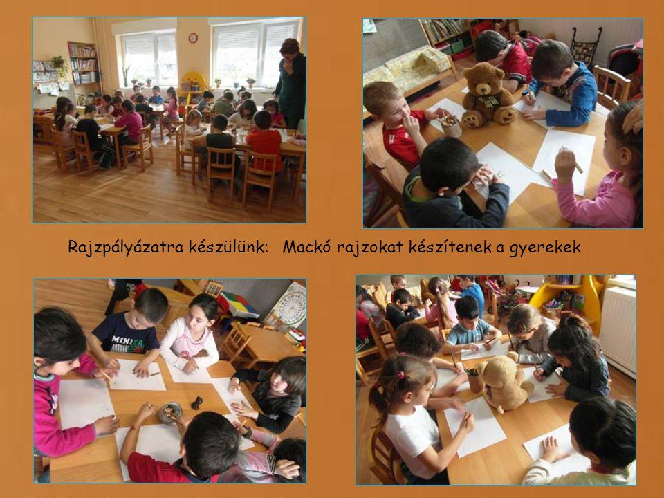 Rajzpályázatra készülünk: Mackó rajzokat készítenek a gyerekek