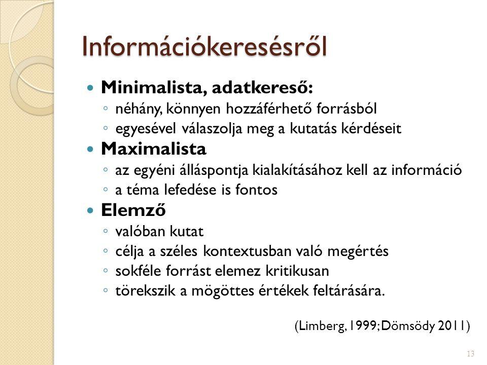 Információkeresésről