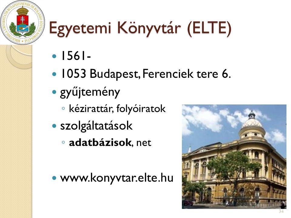 Egyetemi Könyvtár (ELTE)