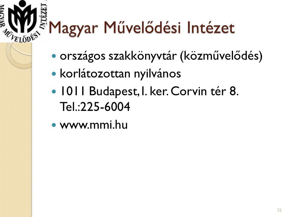 Magyar Művelődési Intézet