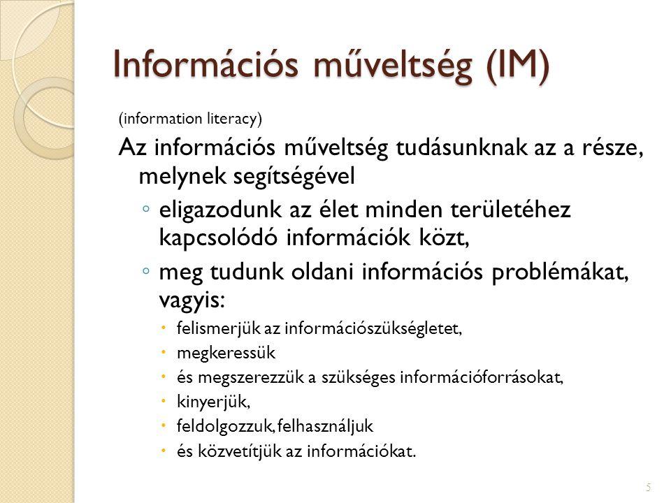 Információs műveltség (IM)