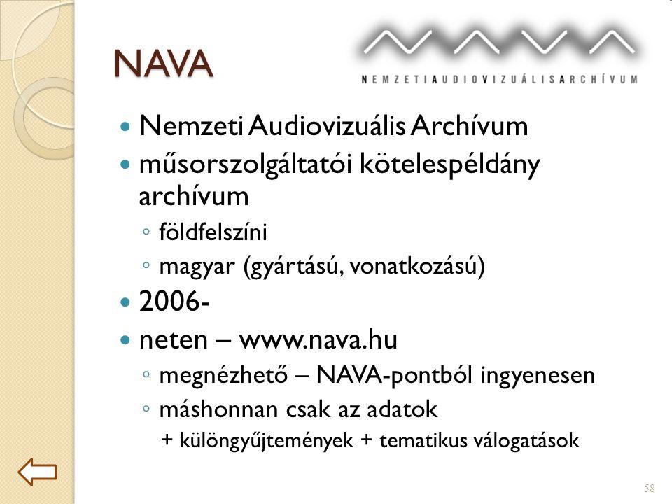 NAVA Nemzeti Audiovizuális Archívum