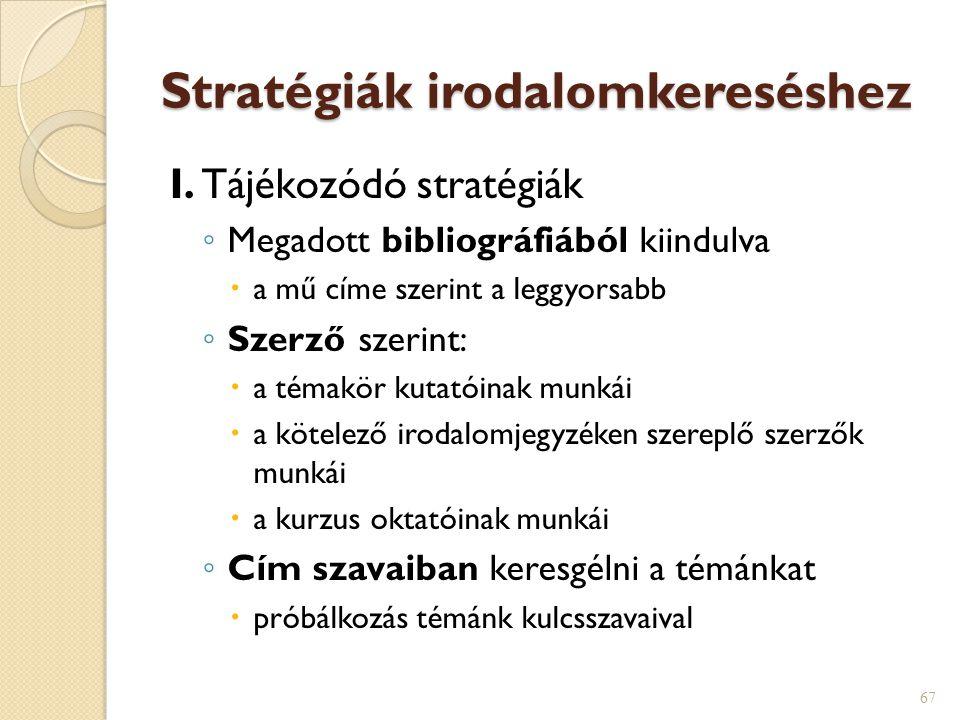 Stratégiák irodalomkereséshez