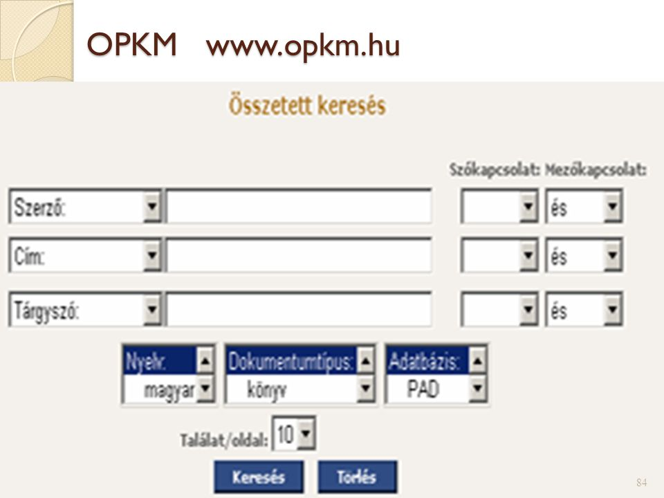OPKM www.opkm.hu