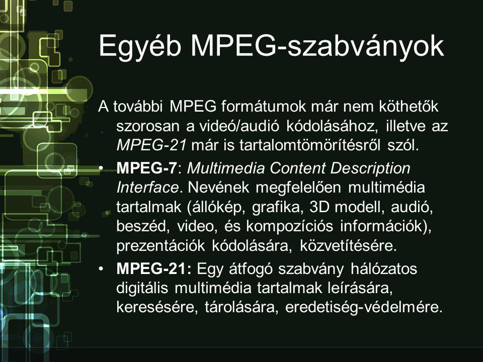 Egyéb MPEG-szabványok