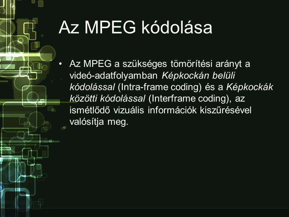Az MPEG kódolása