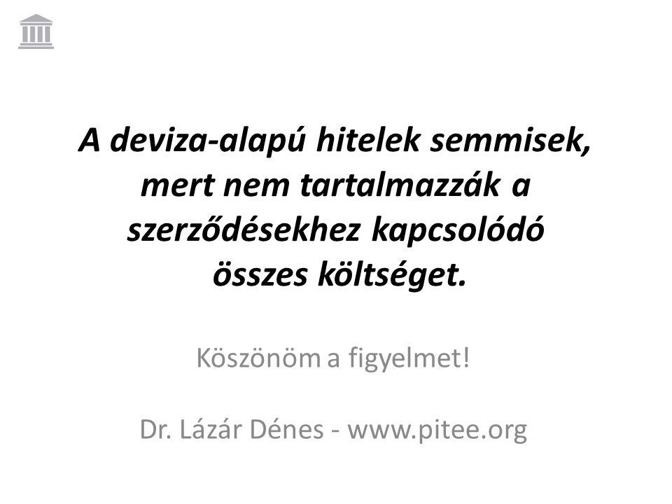 Köszönöm a figyelmet! Dr. Lázár Dénes - www.pitee.org