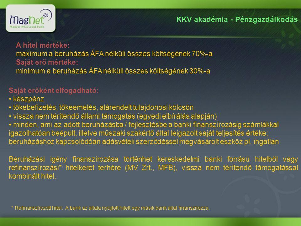 KKV akadémia - Pénzgazdálkodás