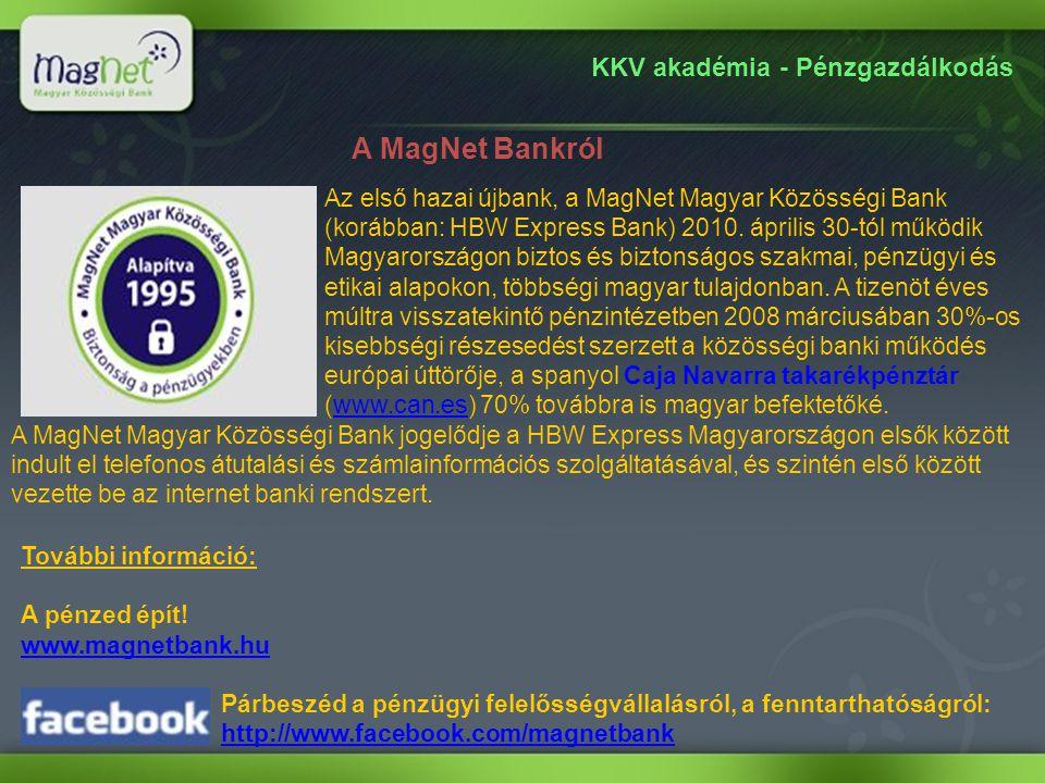 A MagNet Bankról KKV akadémia - Pénzgazdálkodás