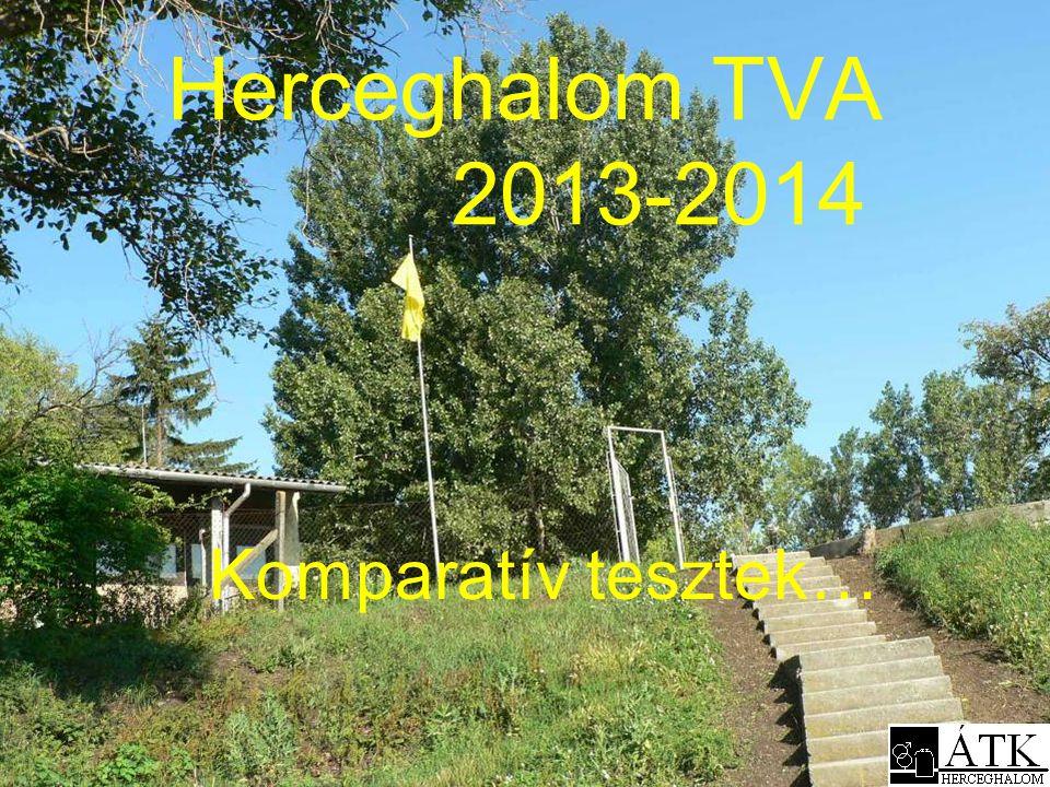 Herceghalom TVA 2013-2014 Komparatív tesztek…