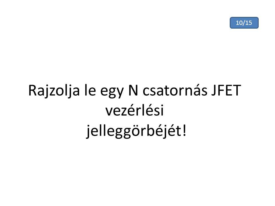 Rajzolja le egy N csatornás JFET vezérlési jelleggörbéjét!