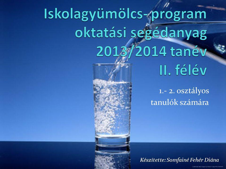 Iskolagyümölcs- program oktatási segédanyag 2013/2014 tanév II. félév