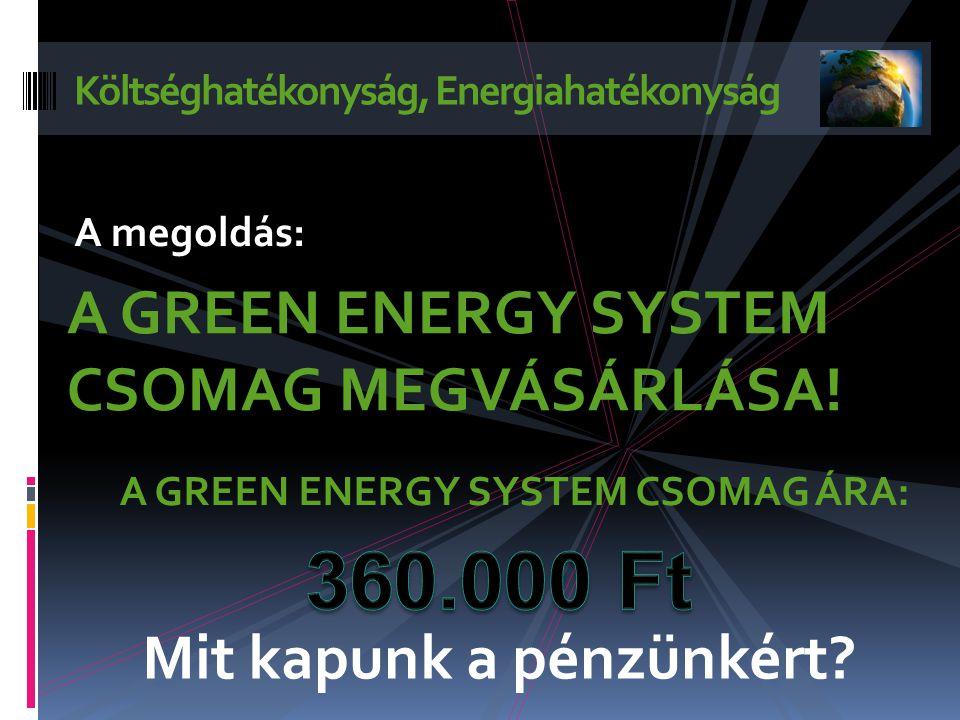 Költséghatékonyság, Energiahatékonyság