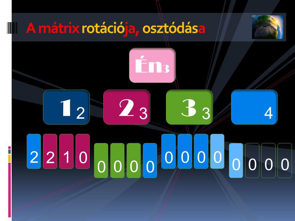 A mátrix rotációja, osztódása