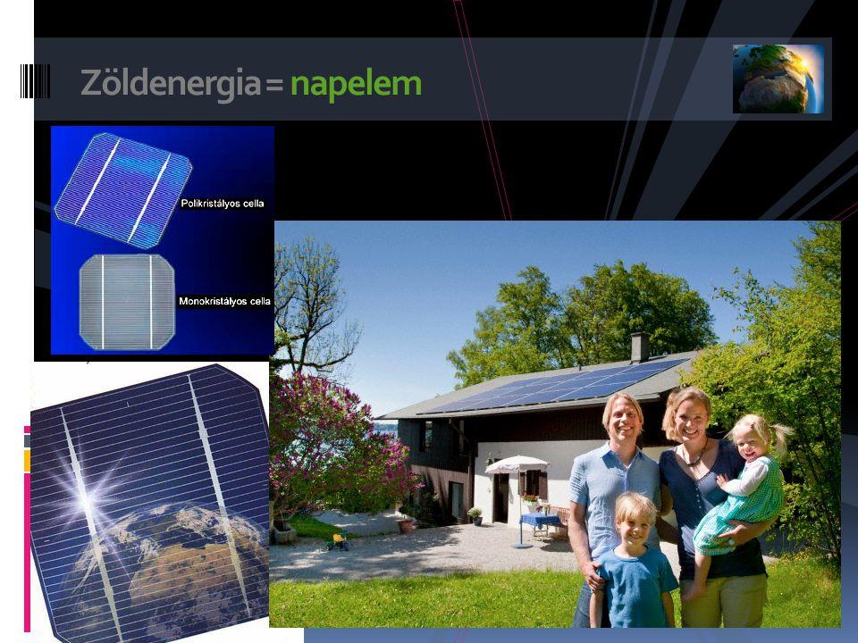 Zöldenergia = napelem .