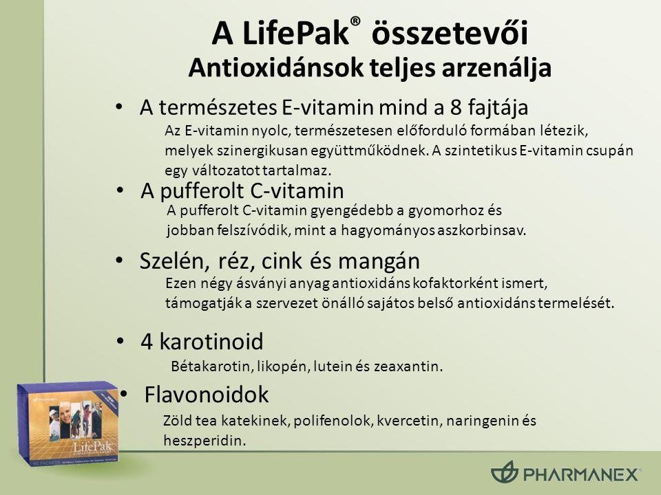 A LifePak® összetevői Antioxidánsok teljes arzenálja