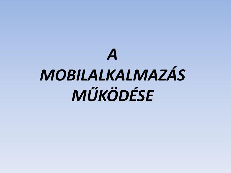 A MOBILALKALMAZÁS MŰKÖDÉSE